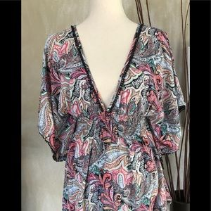 Victoria Secret Boho paisley cover up